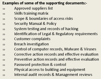 there are four elements to setting up isms information security management system