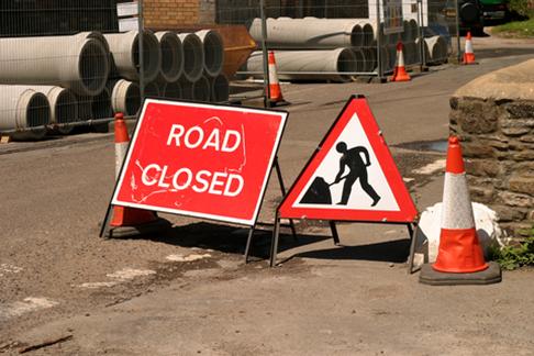 NHSS 12d road closed